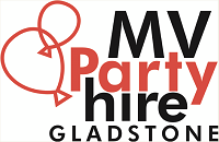 MV Party Hire Gladstone logo
